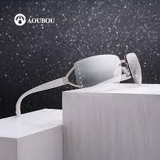 <b>Vintage Rimless Sunglasses Women</b> Luxury Diamond Design White ...