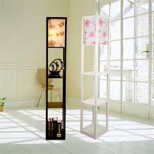 <b>Modern Wooden Floor Lamps</b> Bookshelf Floor Stand Lights Tea ...