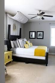 yellow and gray bedroom: purple and gray bedroom thinking this maybe brooklyns room colors quartos pinterest guest rooms what i want and accent walls