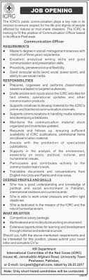 officer jobs in icrc peshawar communication officer jobs in icrc peshawar