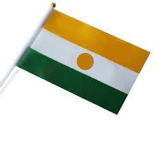 <b>Free shipping Niger</b> small hand shaking polyester <b>National</b> flags ...
