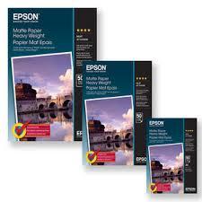 <b>Epson</b> C13S041261 | <b>Matte Paper Heavyweight</b> 167g/m² | <b>A3</b>
