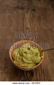 <b>Avocado</b> sauce in <b>small</b> bowl with etnic <b>pattern</b> Stock Photo ...