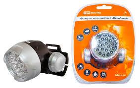 <b>LED Фонарь светодиодный</b> «TDM» <b>Налобный</b>, 23 СВ - купить по ...