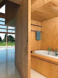 dwell bathroom ideas  ways to use wood in the bathroom dwell on other side of bookshelves a sliding