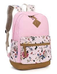 Leaper <b>Floral</b> School Backpack College Bookbag <b>Shoulder Bag</b>