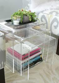 lucite acrylic furniture acrylic nesting tables the lovely cupboard lucite acrylic lucite furniture