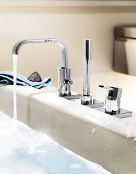 bathroom facuets grohe allure three hole single lever bath combination