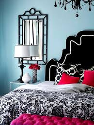 ideas light blue bedrooms pinterest: light blue bedroom with red accents