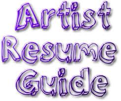 how to create an artist resume  artpromotivate artist resume guide