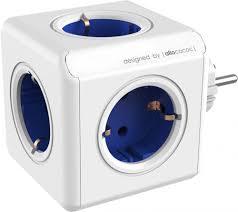<b>Разветвитель Allocacoc Powercube Original</b> 5 розеток (синий)