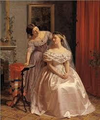 19th century marriage manuals advice for young wives mimi matthews the bride adorned by her friend by henrik olrik 1850