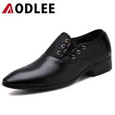 <b>AODLEE</b> Fashion Men Leather Shoes <b>Plus Size 48</b> Handmade ...