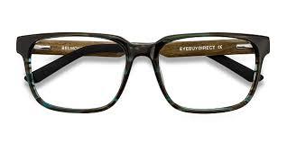 <b>Belmont</b> - Rectangle Coffee <b>Frame Glasses</b> | EyeBuyDirect