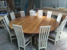 dining table that seats 10:   seater large round hoop base dining table bespoke