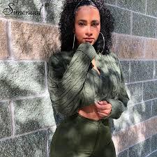 <b>2019 Simenual</b> Twist <b>Knitwear</b> Women <b>2019 Autumn Sweaters</b> Long ...