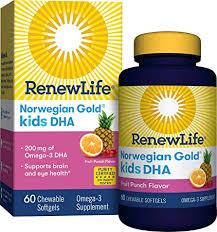 Renew Life Norwegian Gold Kids Fish Oil - Kids DHA ... - Amazon.com