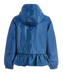 Детская синяя <b>ветровка</b> с баской