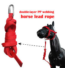15 Mm Wide <b>Double</b> Layer PP <b>Webbing</b> Horse Lead Rope Large ...