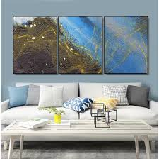 <b>Laeacco 3 Panel</b> Wall Art Abstract Canvas Painting Calligraphy ...