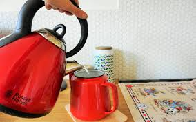 hexagon splashback hexagonal tile porcelain  make a pot of tea