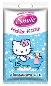<b>Влажные салфетки Smile</b> Hello Kitty — купить по выгодной цене ...