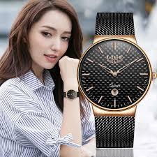 Relogio Feminino <b>Women Watches LIGE</b> Top Brand Luxury Ladies ...