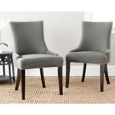 french square upholstered side dining chairs set lester granite linen dining chair set of