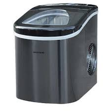 Frigidaire <b>Portable</b> Self Cleaning Ice Maker, Black <b>Stainless Steel</b>