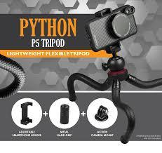 Python P5 <b>Flexible Mini Tripod</b> - Ztylus