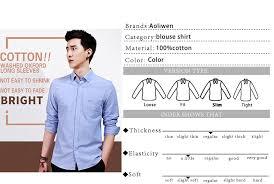 <b>AOLIWEN</b> 100%COTTON <b>Men's</b> brand shirt High quality Oxford ...
