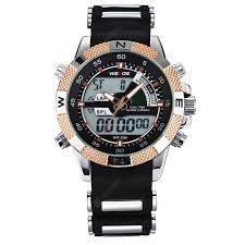 <b>WEIDE Men</b> Fashion <b>Sports</b> Quartz Analog LED <b>Military</b> Wrist Watch ...