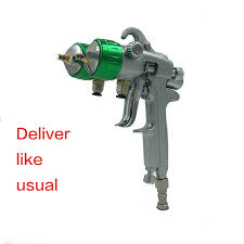 <b>SAT1189 nano</b> chrome paint spray gun high pressure double nozzle ...