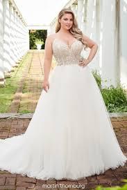 <b>V Neck</b>, Plunging Neckline Wedding Dresses | Martin Thornburg
