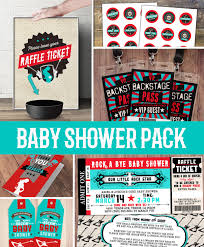 party pack party decorations coed baby shower invitation party pack party decorations coed baby shower invitation rockstar invitation boy baby shower thank you raffle ticket party sign