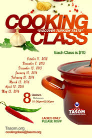 cooking class starting on sunday oct tasom cooking class starting on sunday oct 11