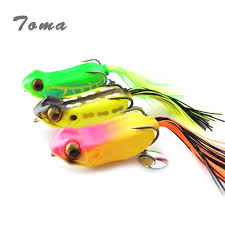 TOMA <b>3pcs</b>/<b>lot</b> Frog Fishing Lure Snakehead Bait 60mm 15g <b>Soft</b> ...