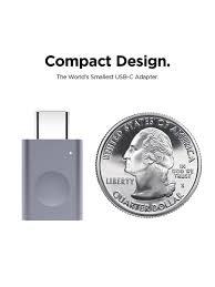 Адаптер <b>USB</b>-C to <b>USB-A</b> Micro Aluminium LED Silver (1 шт ...
