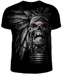 Светящаяся в темноте мужская футболка <b>Череп вождя</b>
