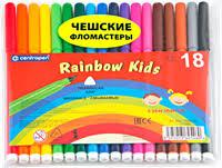 <b>Фломастеры CENTROPEN Rainbow kids</b> 18 цв 7550/18 – купить в ...