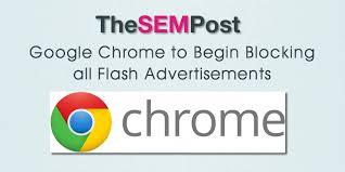 Image result for Chrome blocks flash ads