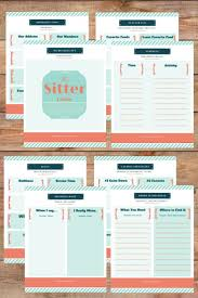 17 best ideas about babysitters babysitter babysitter printable pack not sure what to leave for the babysitter first time