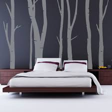 beautiful dark grey wall themes design with cool tree wall decal plus rectangle dark brown mahogany awesome black painted mahogany