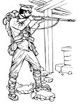 Картинки раскраски военных