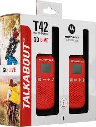 <b>Рация Motorola TALKABOUT T42</b> черный/красный цвет - купить ...