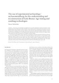 (PDF) The use of experimental <b>archaeology</b>/archaeometallurgy for ...