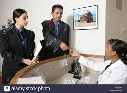drug rep stock photos drug rep stock images alamy reps must check in the receptionist before seeing the doctor stock image