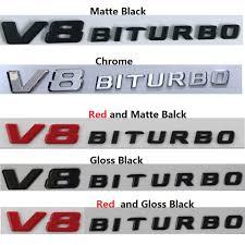 Gloss Black Letters GLS63 AMG <b>V8 BITURBO</b> Badges Emblems for ...