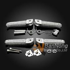 2019 <b>High Quality Motorcycle</b> Silver <b>Front&Rear</b> Footrests Foot Pegs ...