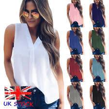 Women's Casual <b>Chiffon Cami</b> Vest Tops & Shirts for sale | eBay